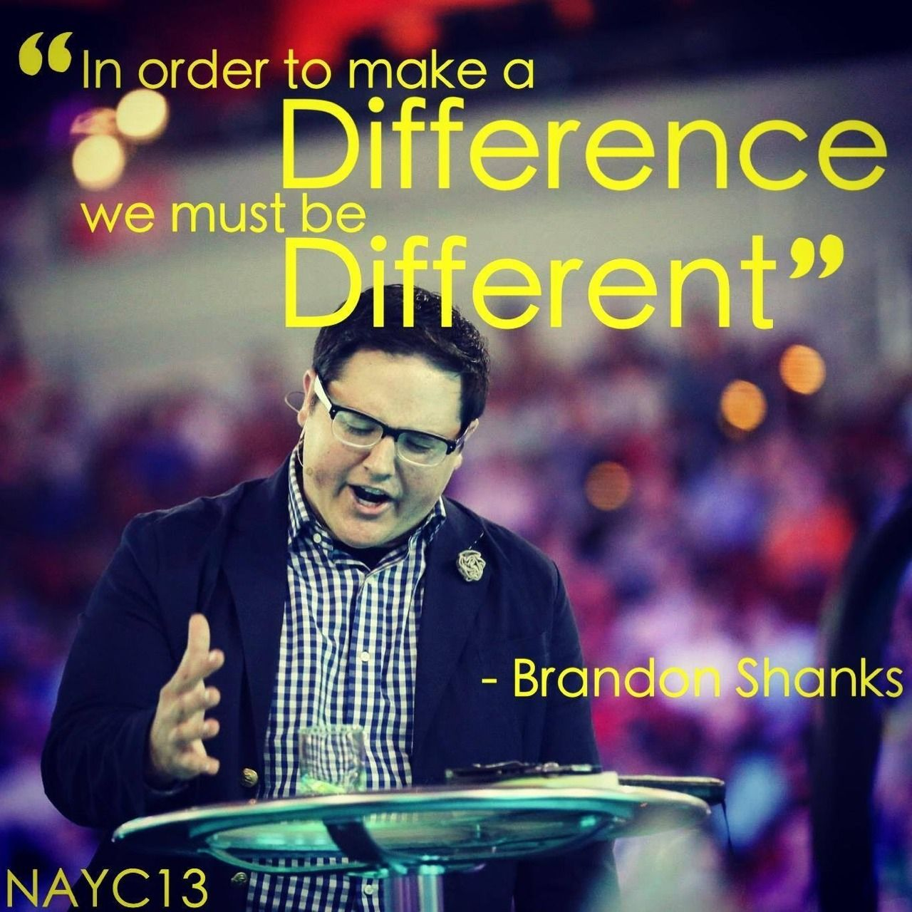 Brandon Shanks North American Youth Congress 2013 | UPCI
