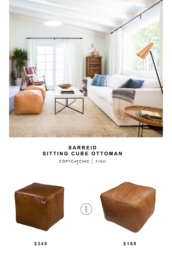Sarreid Sitting Cube Ottoman Ottoman In Living Room Home Living