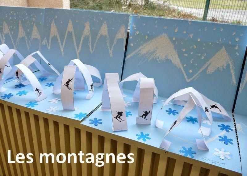 Le journal de chrys ecole montagne pinterest montagne enneig e journal et hiver - Activite manuelle maternelle hiver ...