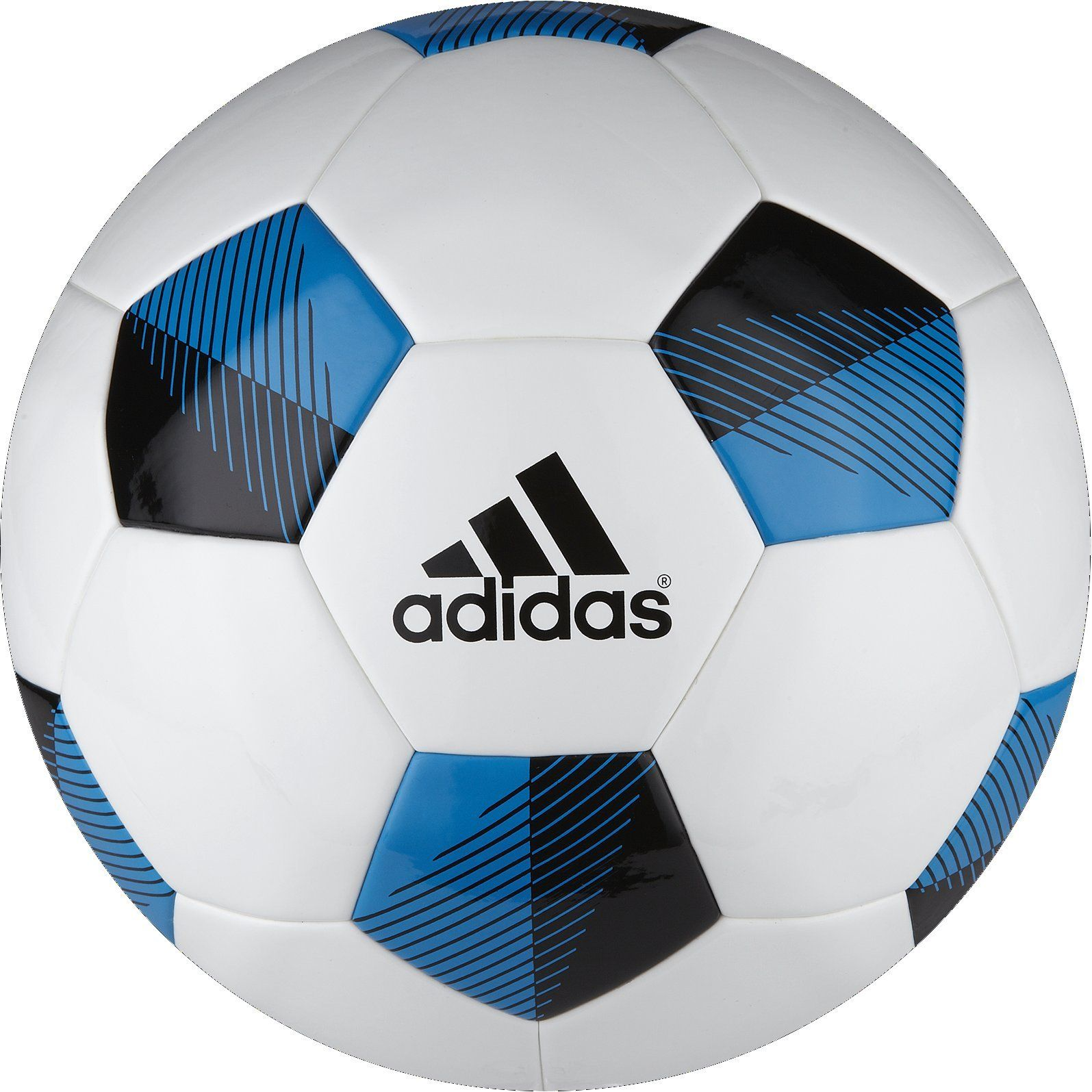 the latest 6edc4 e33bf ... adidas Performance NFHS Competition Soccer Ball, WhiteBlackSolar Blue,  5 - 50 ...
