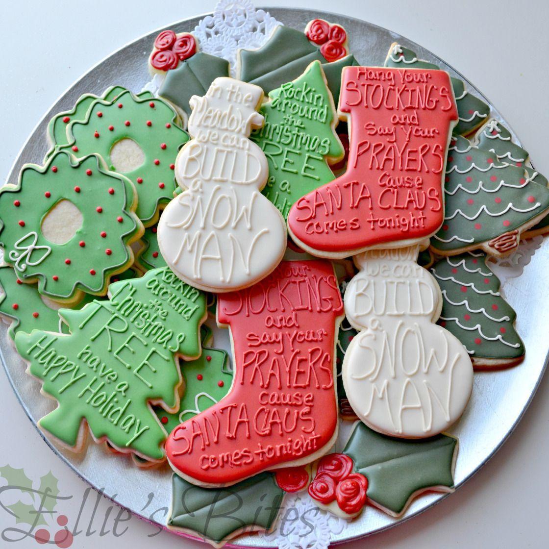 Easy Elegant Christmas Cookies – Ellie's Bites Decorated Cookies