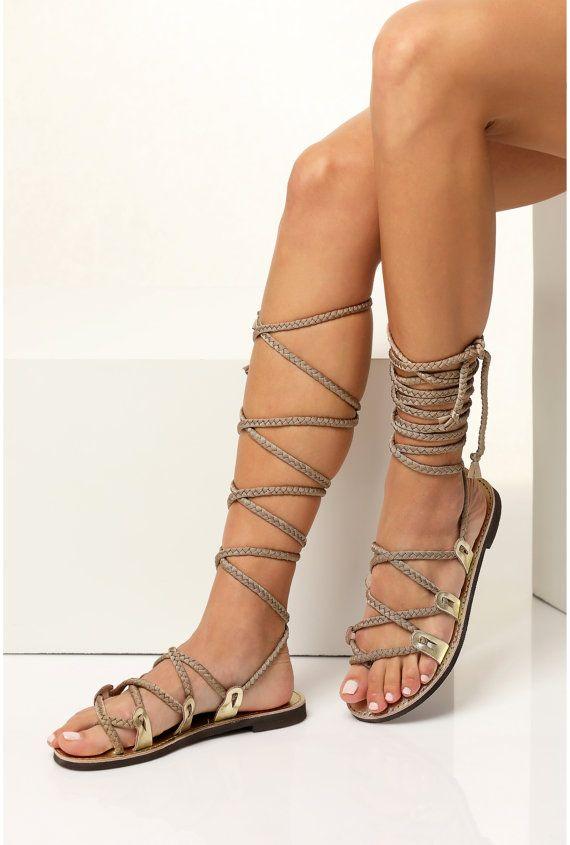 arte squisita enorme sconto alta qualità Sandali gladiatore, Sandali d'oro, sandali greci per le ...