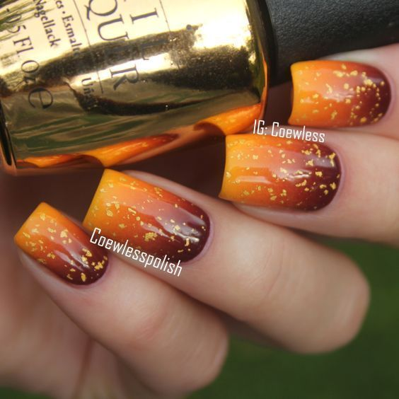 54 Stylish Fall Nail Designs and Colors You'll Love #fallnails