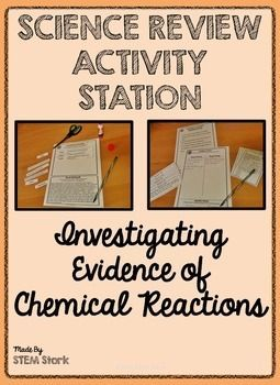 Science review activity investigating evidence of chemical science review activity investigating evidence of chemical reactions 85e urtaz Choice Image