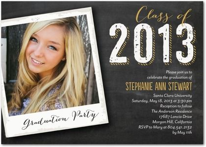 Photo Graduation Invitations Pinterest Grad parties Scrapbook