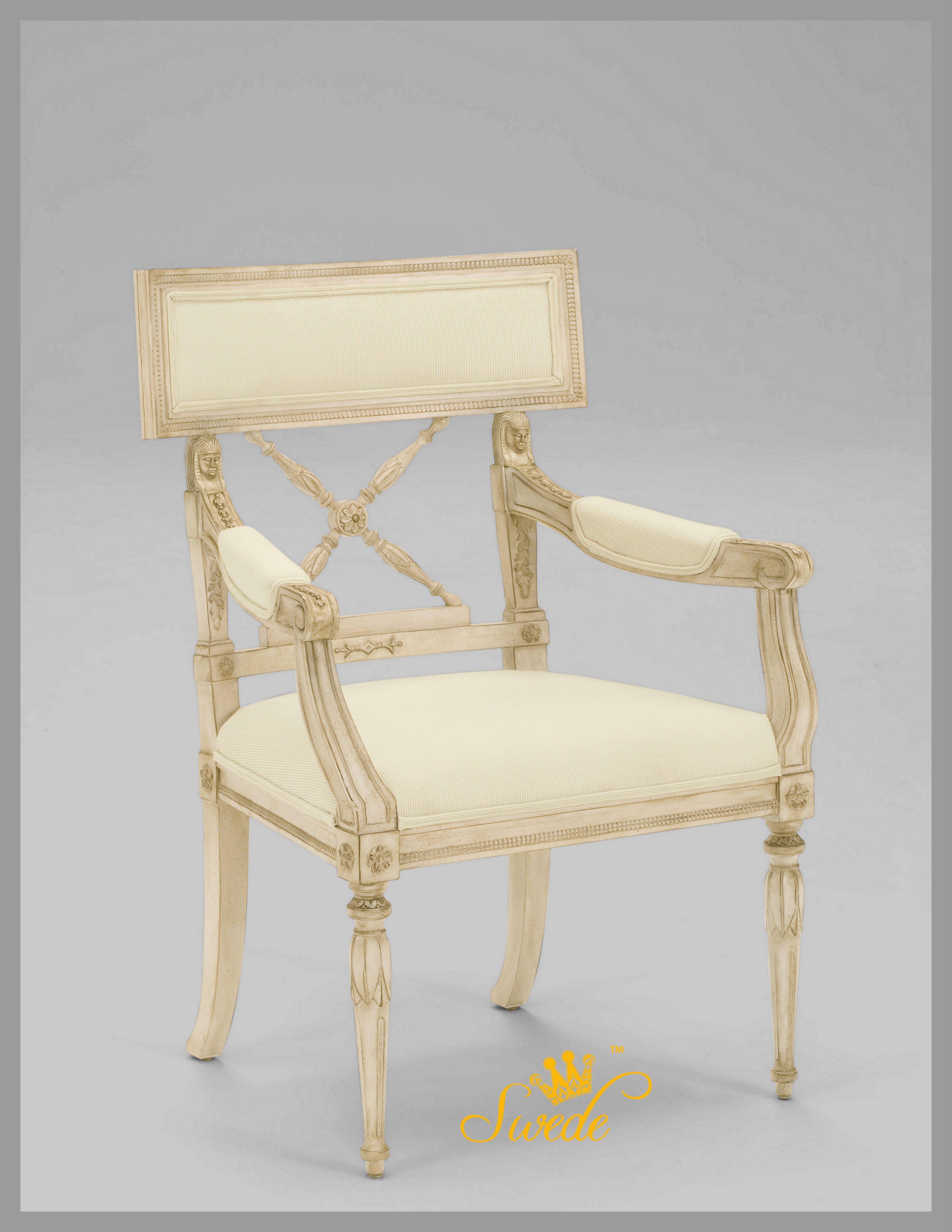 This chair is Swedish Empire style. I found the original ...