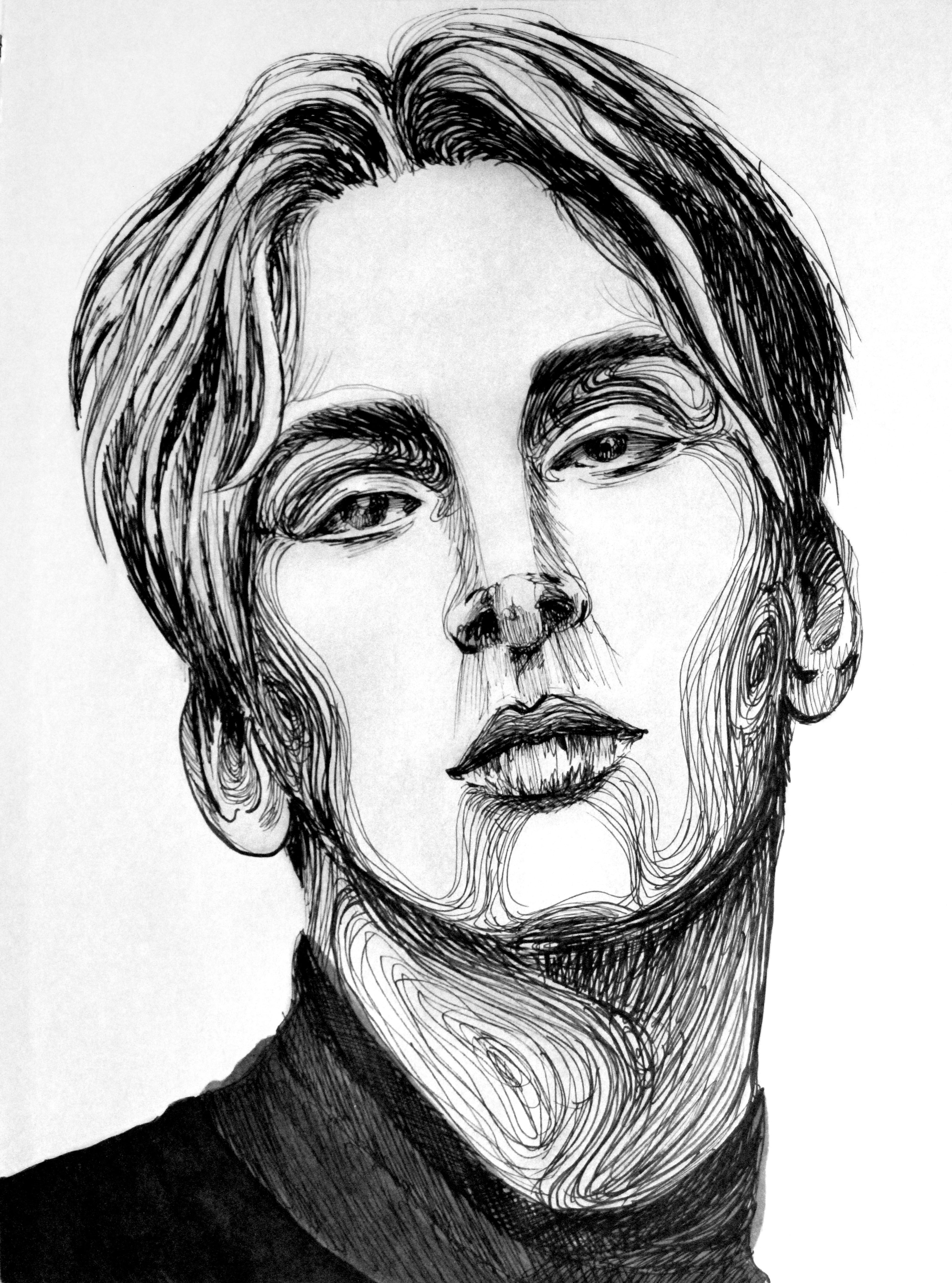 Model Pencil Drawings Black And White