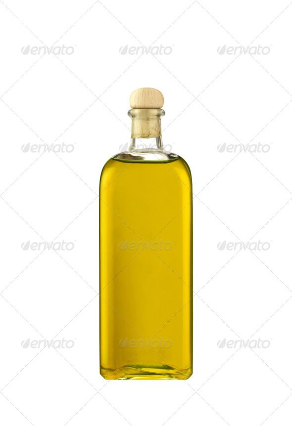Olive Oil Bottle Isolated On White Background By Ozaiachin