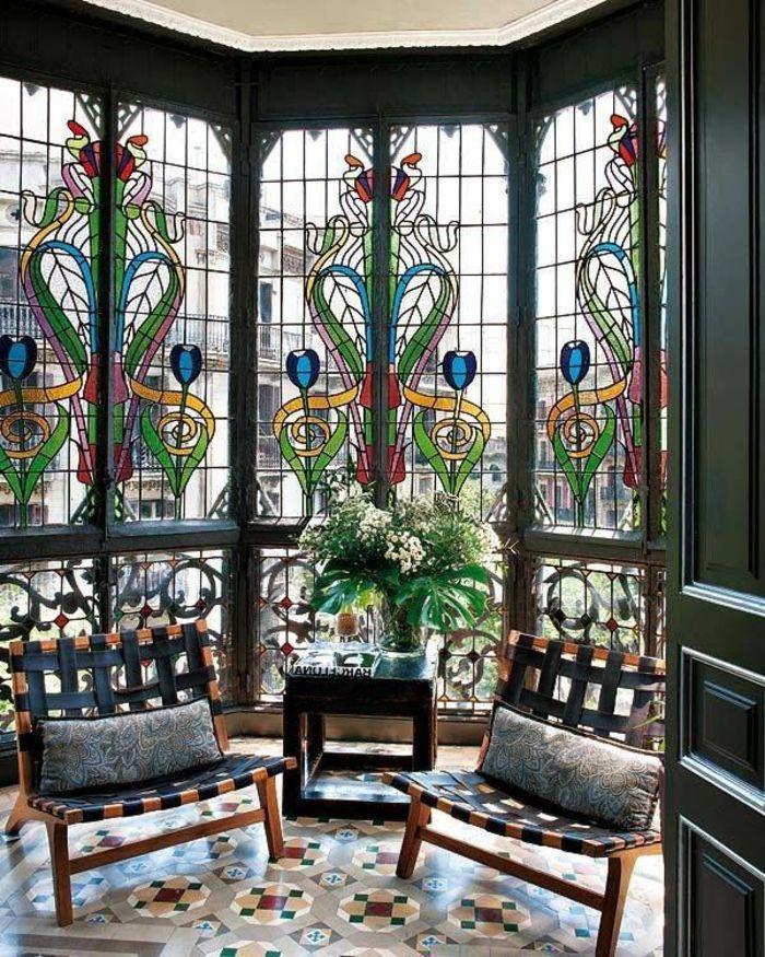 1001 wohnzimmer deko ideen tolle gestaltungstipps wohnung deko pinterest glas fenster. Black Bedroom Furniture Sets. Home Design Ideas