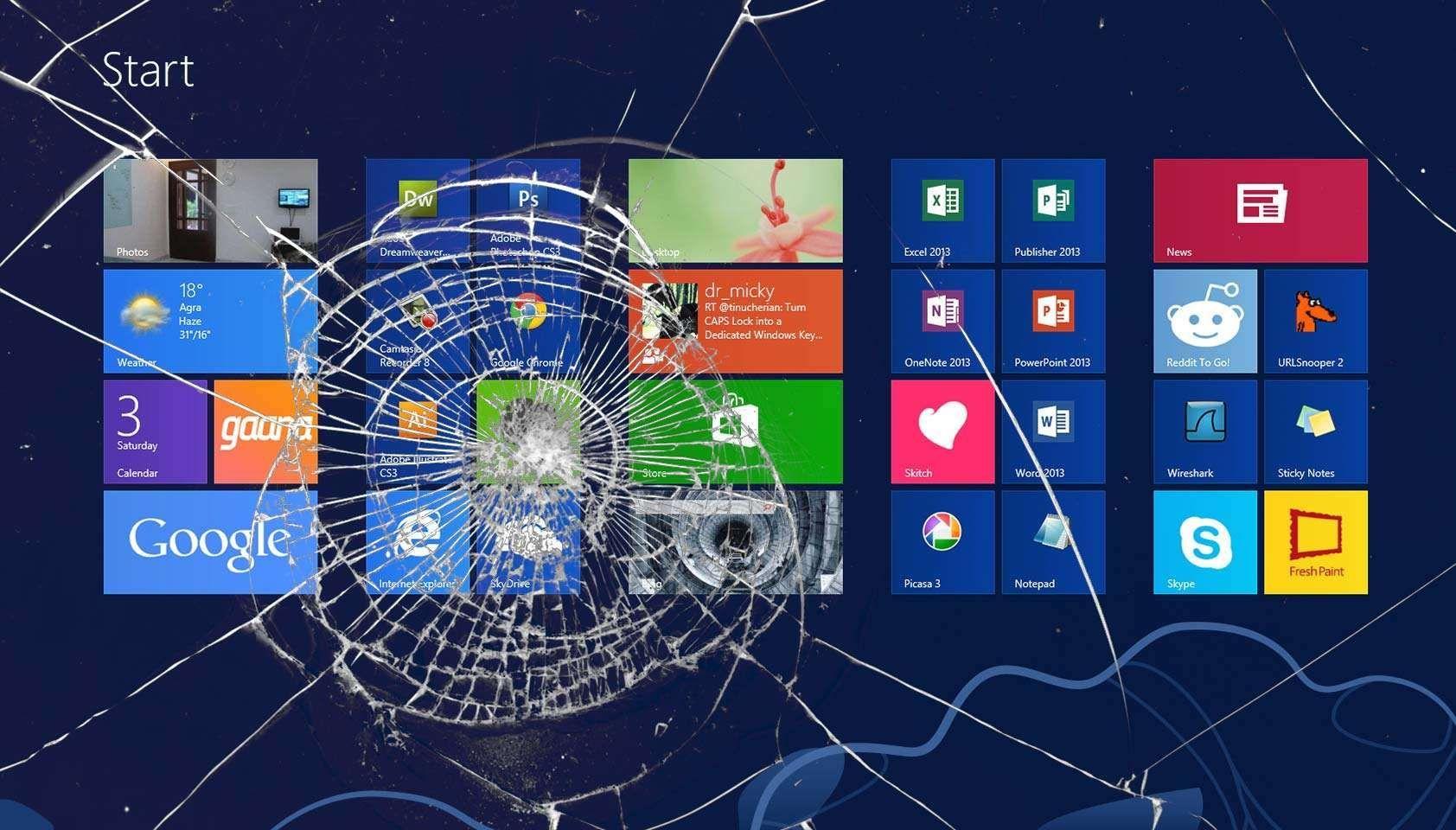Windows 10 Wallpaper Broken Mywallpapers Site In 2020 Computer Screen Wallpaper Broken Screen Wallpaper Broken Screen