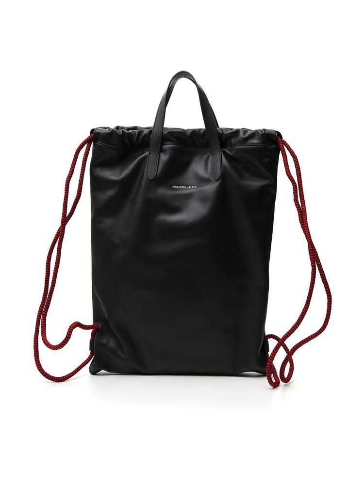 Alexander Mcqueen Drawstring Backpack Alexandermcqueen Bags Leather Backpacks