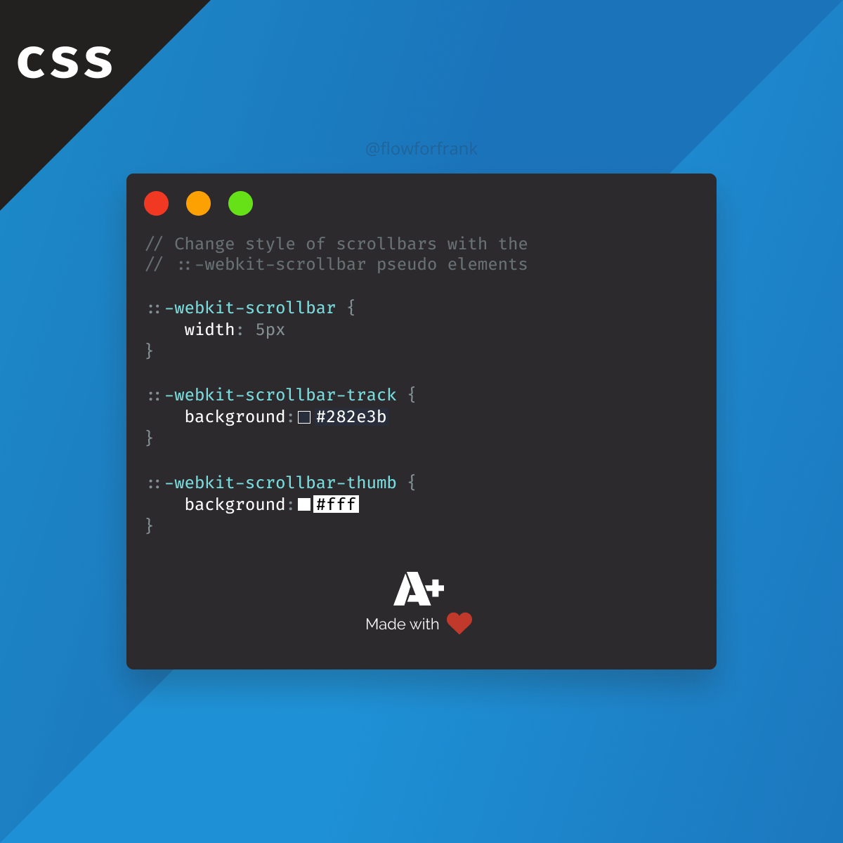 How To Change Scrollbars In Css Css Tutorial Web Design Tools Learn Web Development