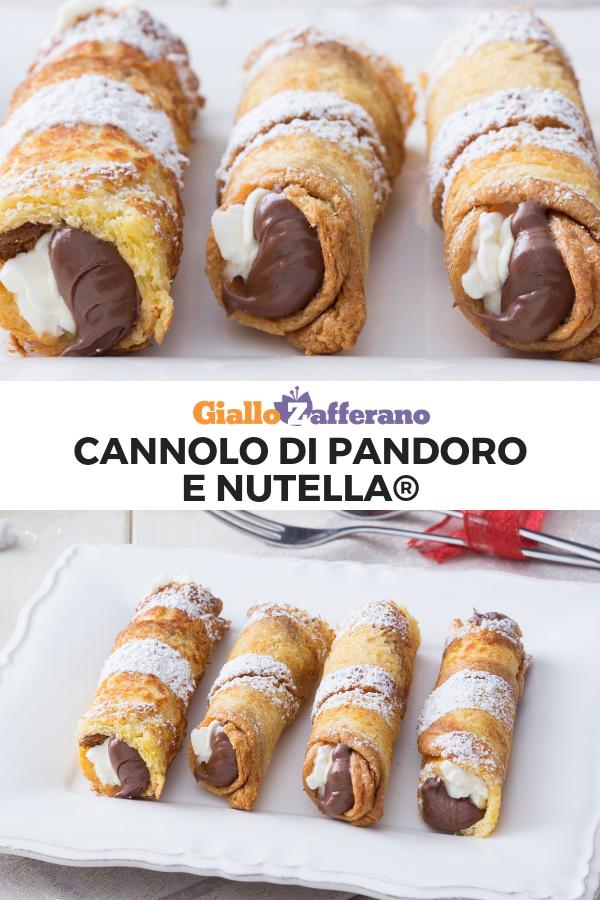 Ricetta Tiramisu Con Pandoro Giallo Zafferano.Cannoli Di Pandoro E Nutella Ricetta Ricette Ricette Dolci Dolci