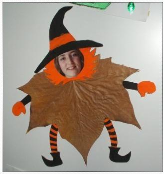 Bricolage De Sorciere D Halloween.Sorciere Feuille D Automne Creations D Halloween Bricolages Halloween Activites Halloween
