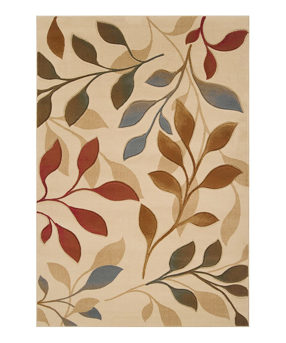 majestic rugs for living room. Loving this Surya Blonde  Dark Khaki Leaf Majestic Rug on Another great find zulily