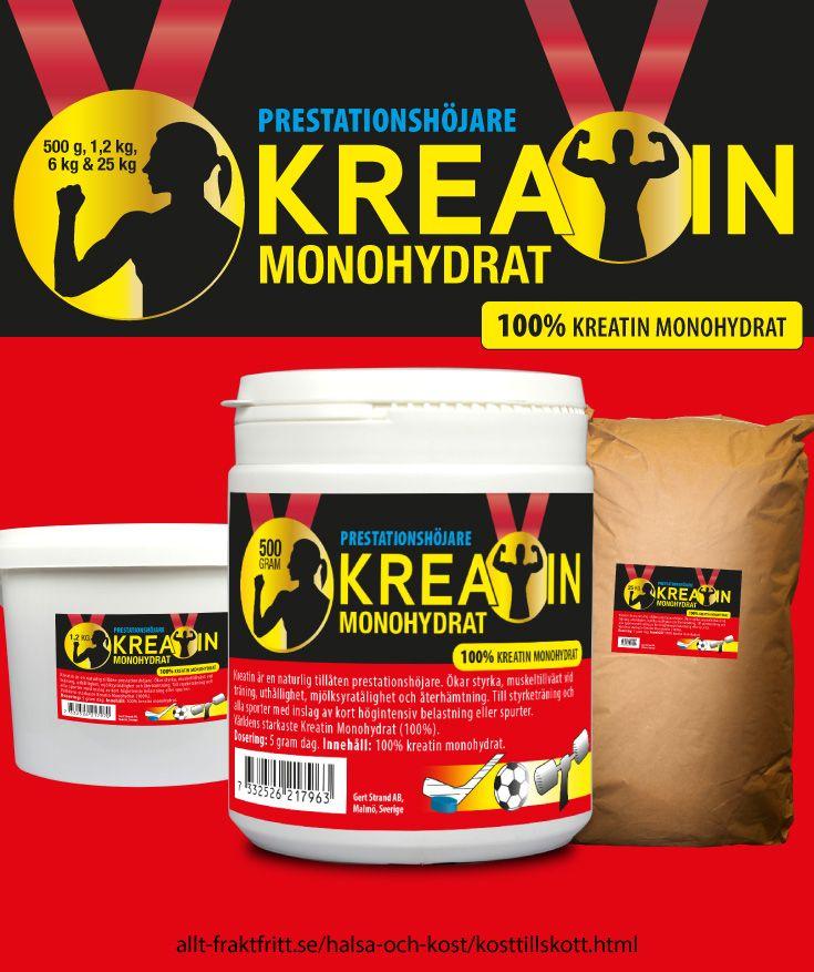kreatin och proteinpulver