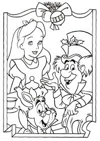 DISNEY COLORING PAGES: ALICE IN WONDERLAND COLORING PAGE