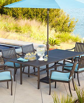 Holden Outdoor Patio Furniture Dining Set Powder Coated Aluminum