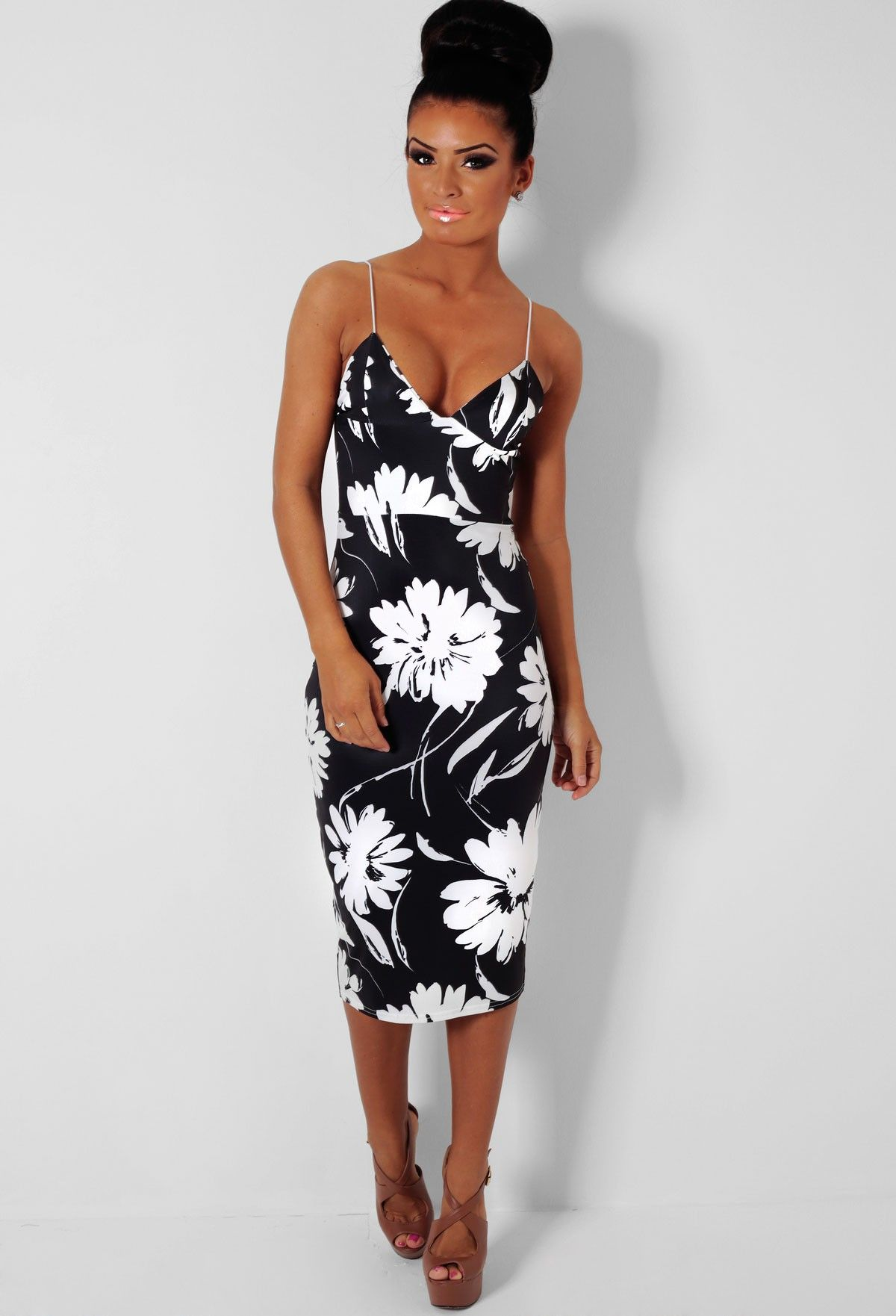 Black dress with white flowers stock flower images pinterest black dress with white flowers dhlflorist Choice Image