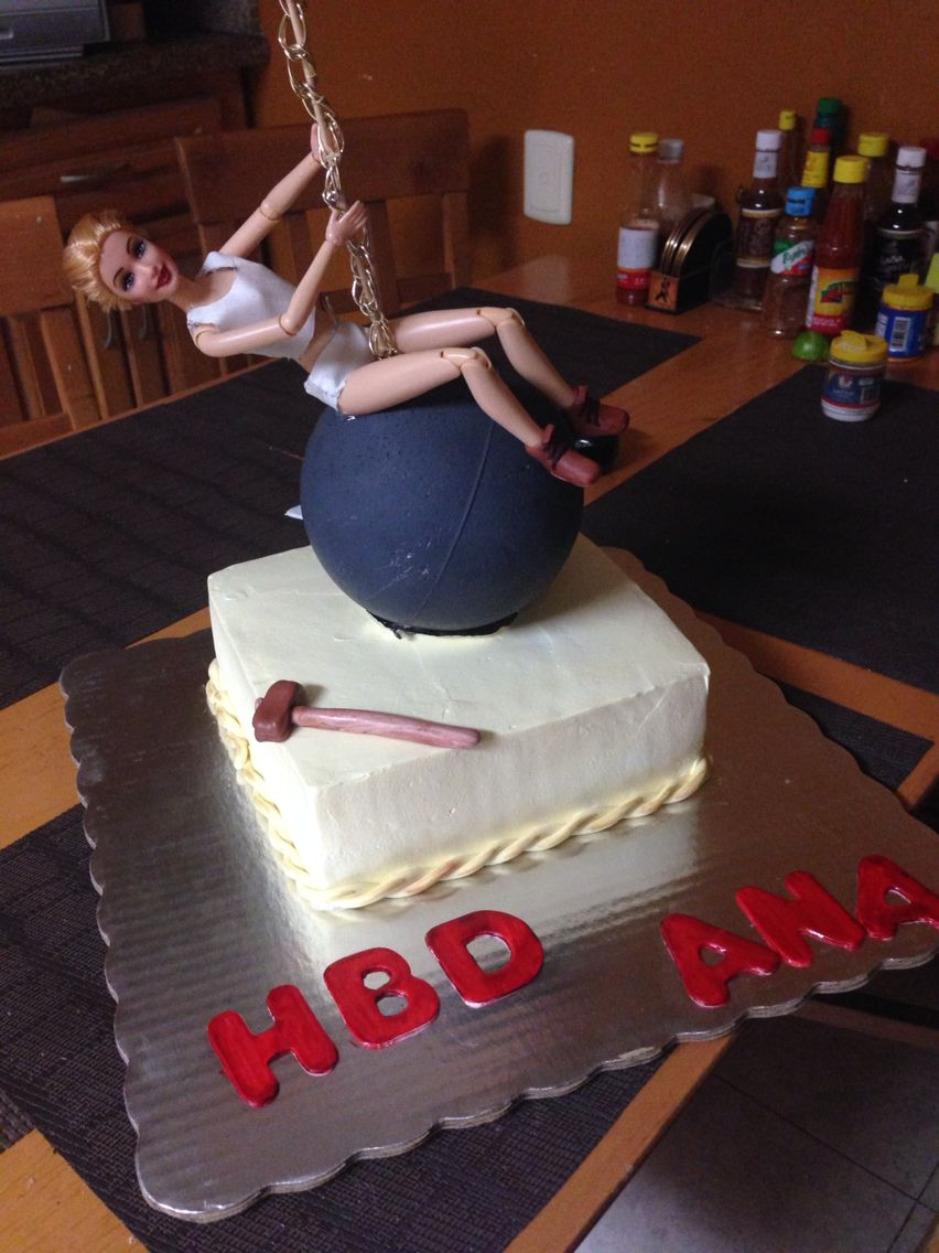 Miley Cyrus Wrecking Ball Cake Idea I Want This For My 21st