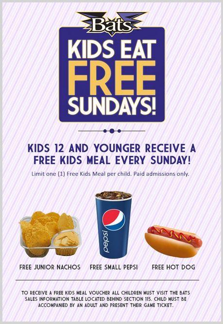 Homerun Kids Eat For Free At Baseball Games Kids Eat Free Children Eating Free Kids Meals