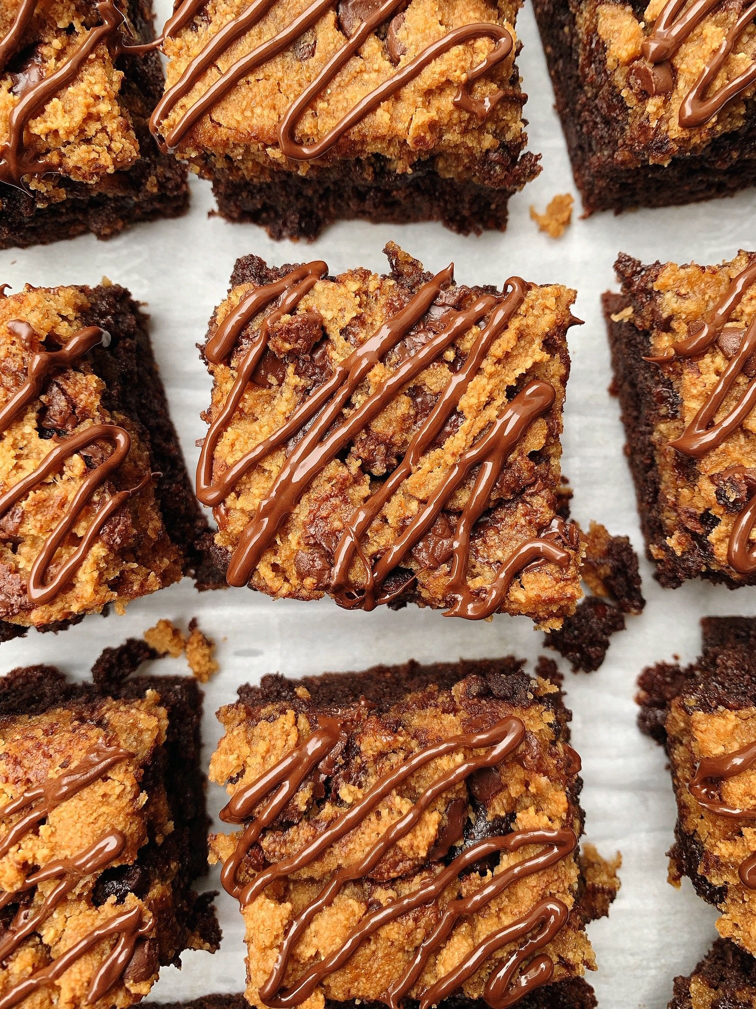 Cookie topped brownies healthy baking gluten free