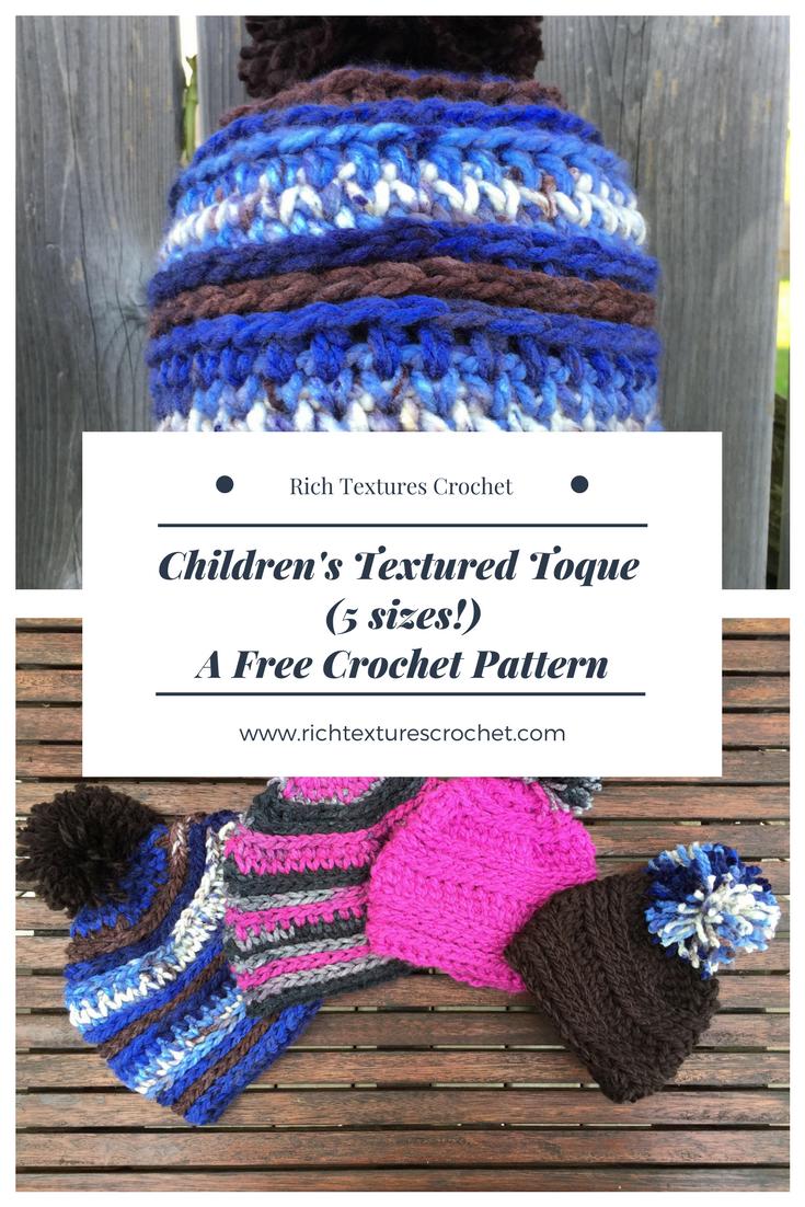 Children s Textured Toque - A Free Pattern | Tejido