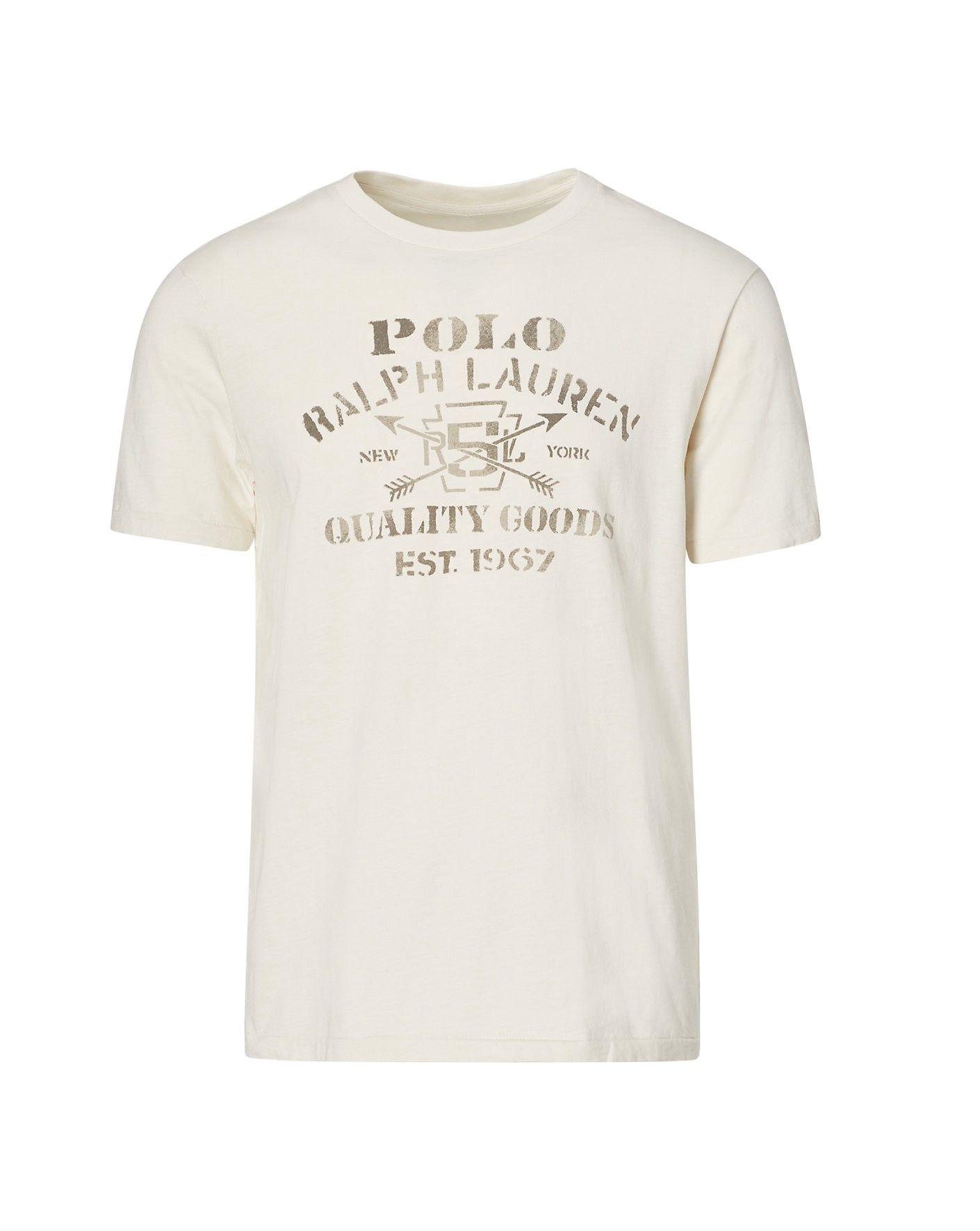47630b84 RALPH LAUREN Cotton Jersey Graphic T-Shirt. #ralphlauren ...