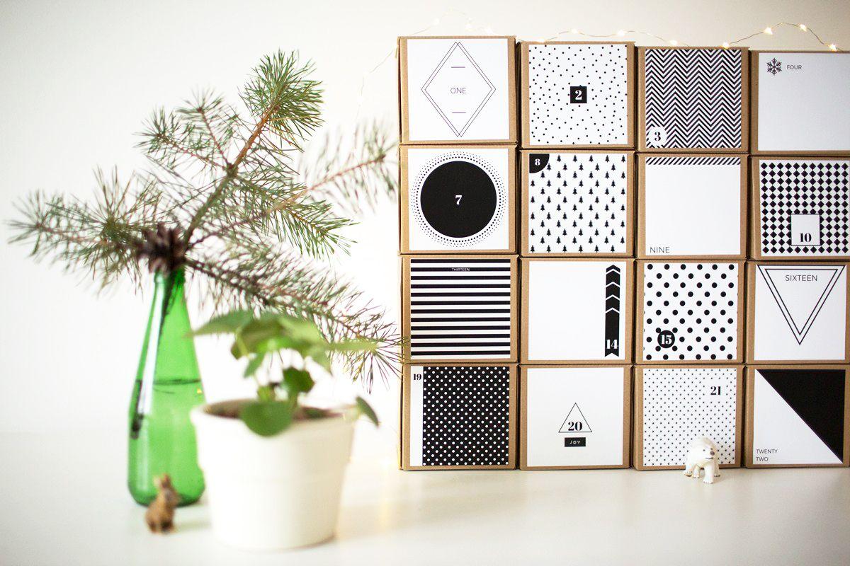 KALENDARZ ADWENTOWY minimalistyczny + lista zadań