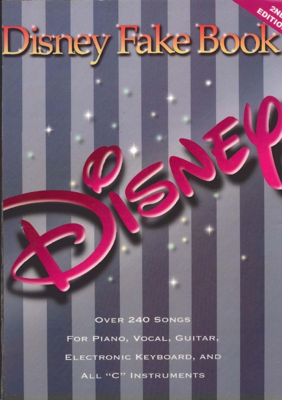 Online Sheet Music Piano Disney Fake Book Con Imagenes