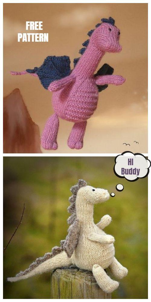 Knit Dragon Toy Free Knitting Patterns & Paid