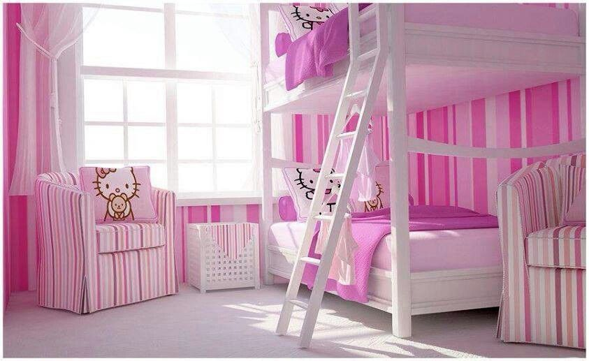 Bedroom Design Hello Kitty Hello Kitty Rooms Pink Bedroom For