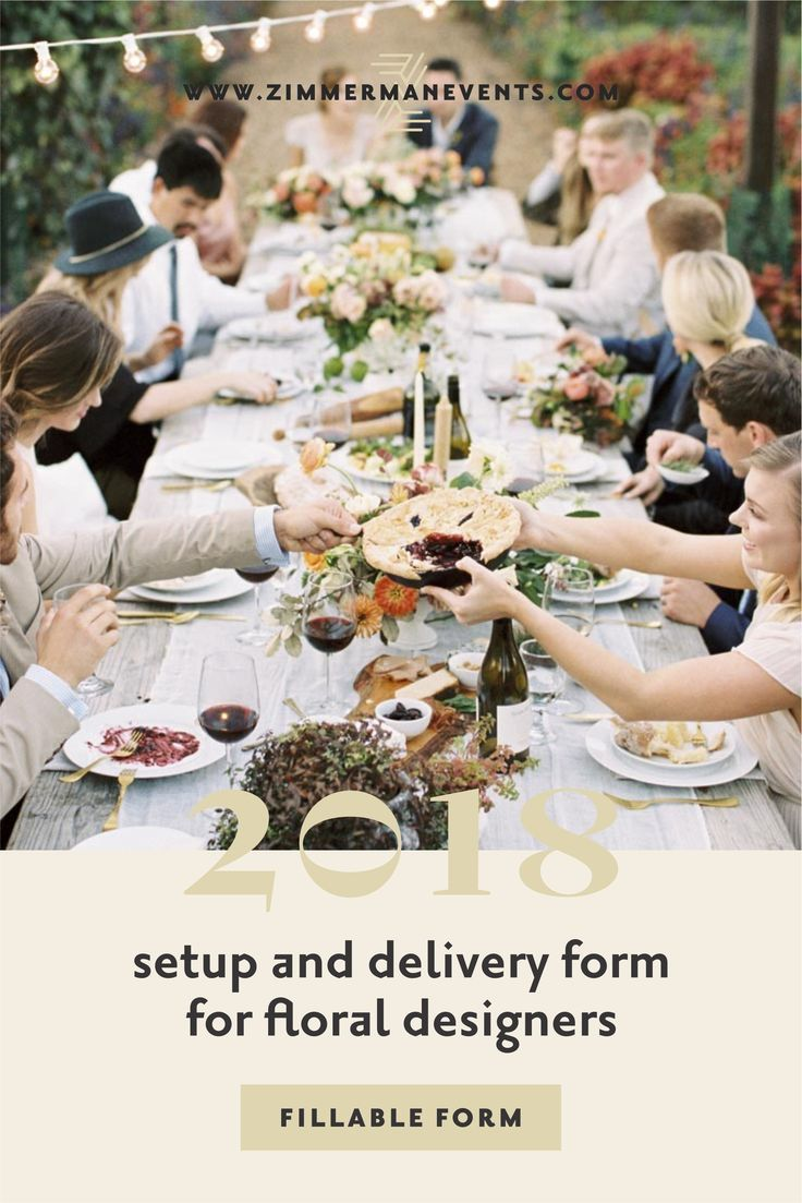 My 2018 Set Up And Delivery Form Customizable Fillable In Wedding Business Pinterest Weddings Planning