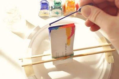 watercolor business card diy