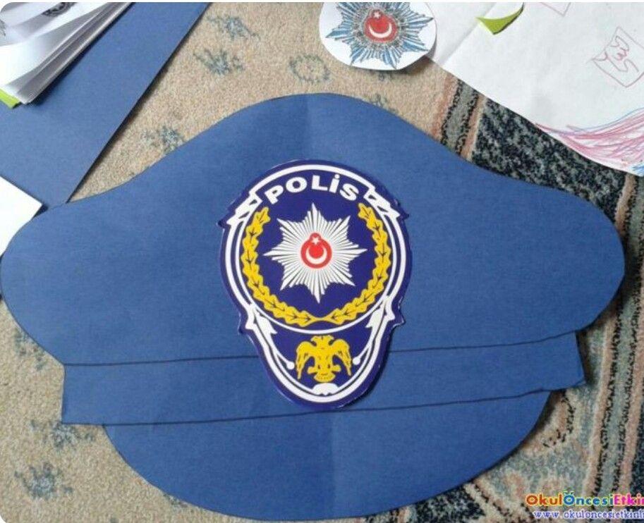 Polis Haftası Için şapka Meslekler Art For Kids Smart Art Ve