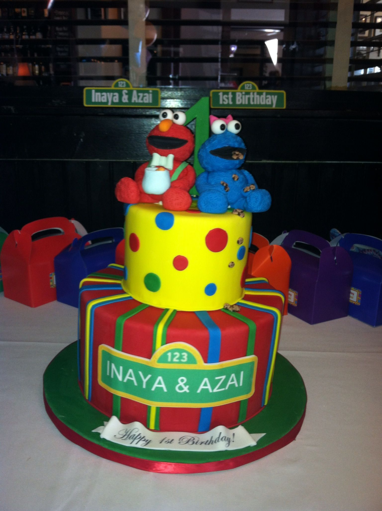 Elmo 1st birthday party ideas birthday party sesamestreet - Elmo Party Twins 1st Birthday Sesame Street Themed Elmo And Cookie Monster