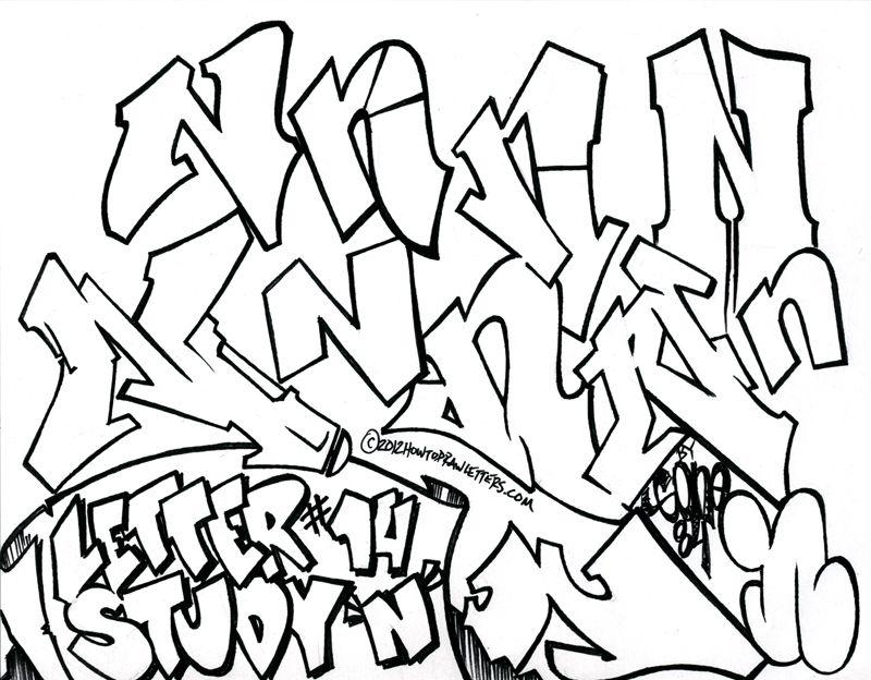 Graffiti Letter N Graffiti Lettering Graffiti Text Graffiti