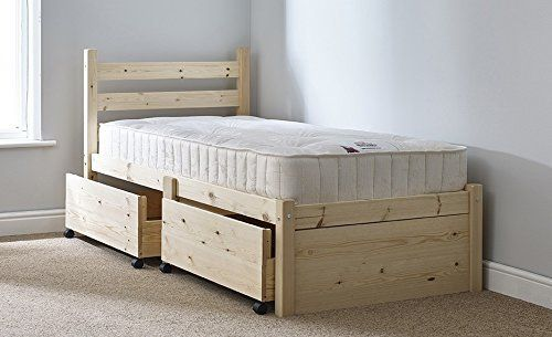 Single 3ft Wooden storage Pine Bed Frame - Can be used by Adults ...