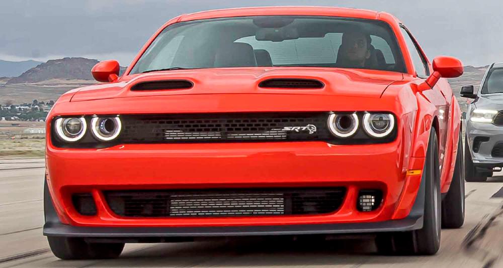 دودج تشالنجر أس أر تي سوبر ستوك 2021 أسرع وأقوى سيارة عضلات الى اليوم والقوة 819 حصان موقع ويلز Dodge Challenger Srt Challenger Srt Dodge Challenger