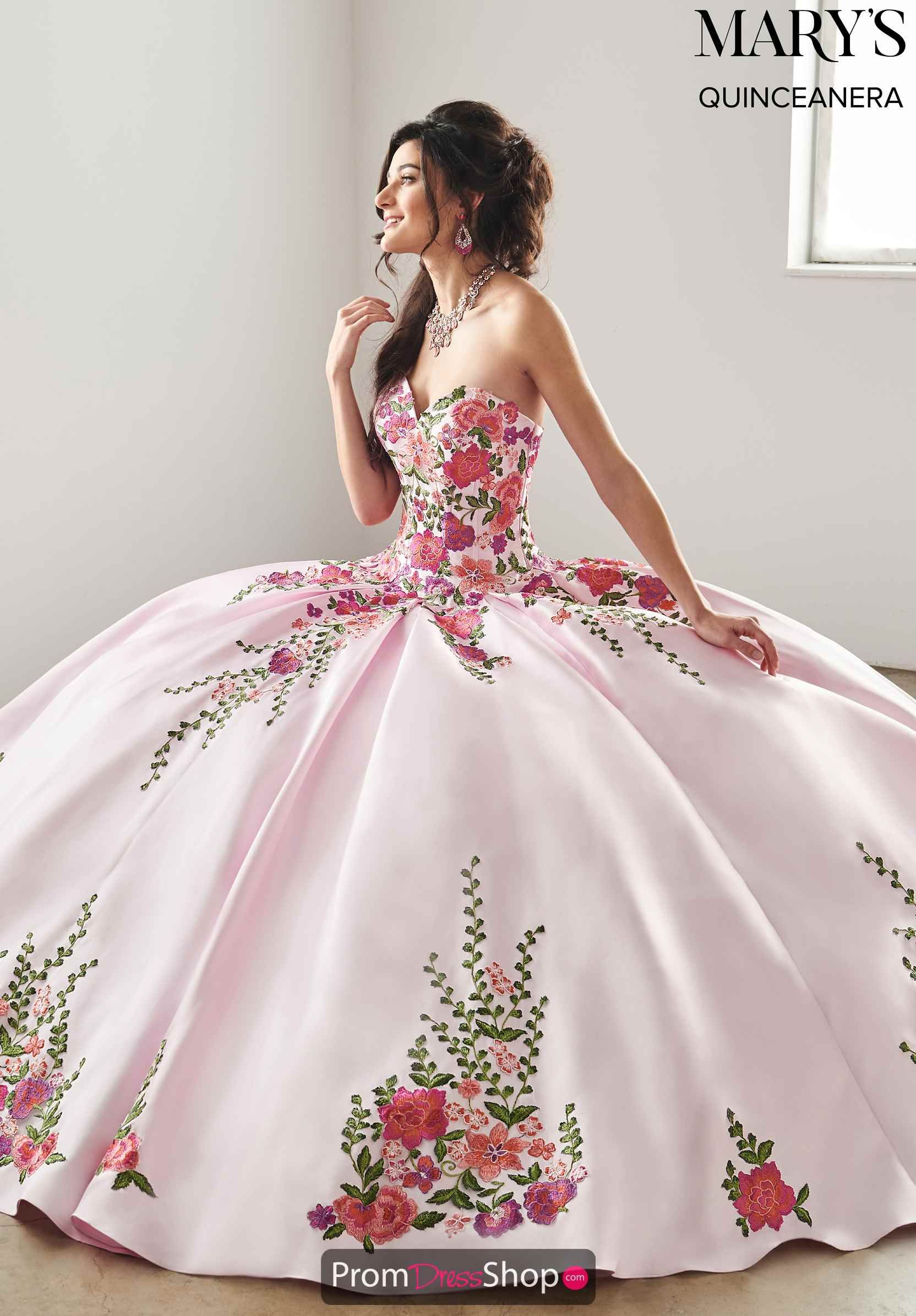Marys Strapless Ball Gown Mq2066 In 2019 Quinceanera