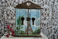 """Ключница """"Окно в Париж"""""""