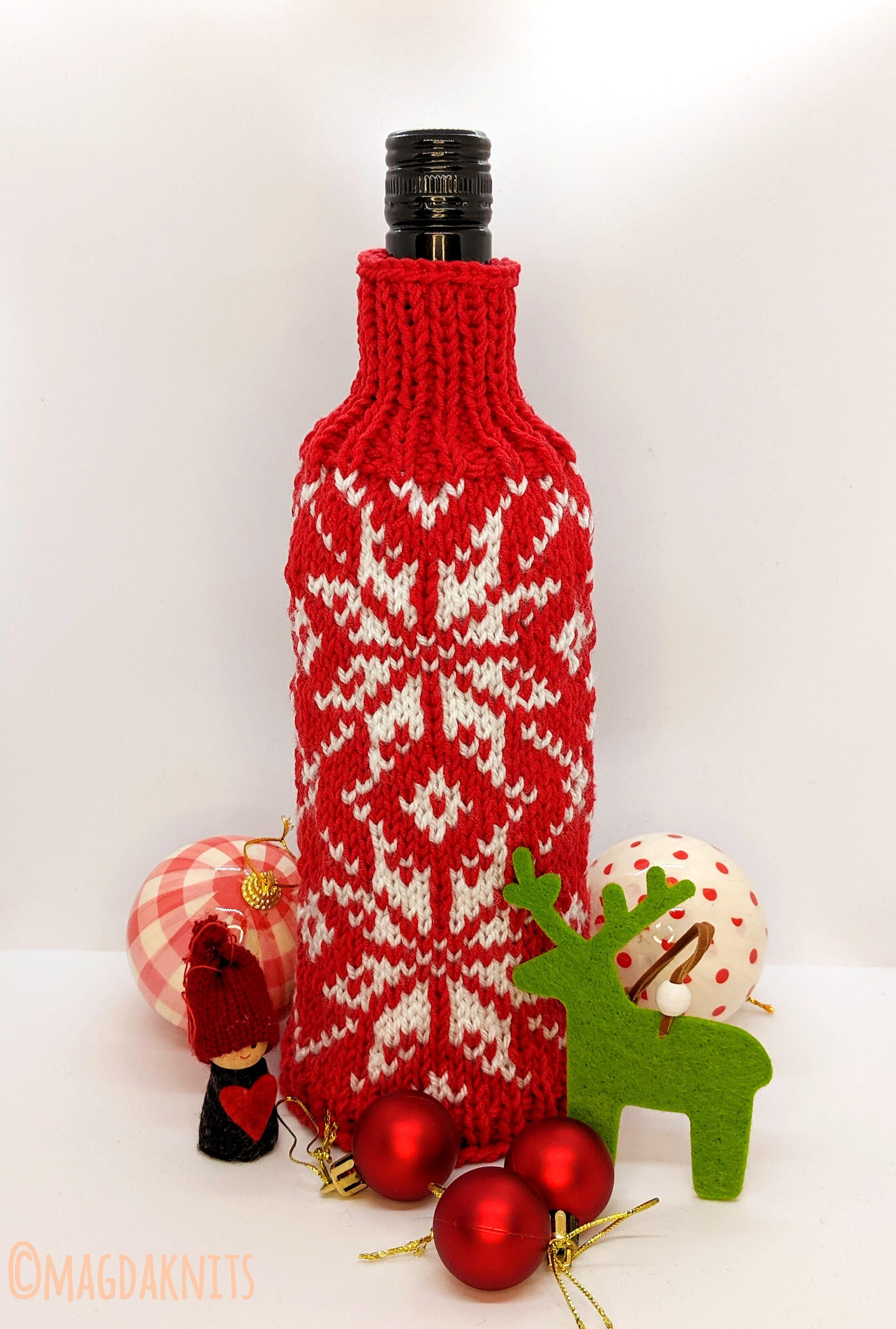 Wine Bottle Cover Magda Knits Wine Bottle Covers Bottle Cover Handmade Knitting