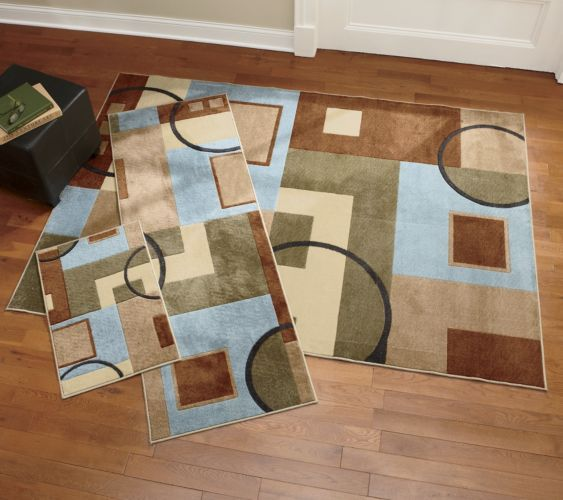 3-Piece Olio Carved Geometric Rug Set from Seventh Avenue ® | DW79256