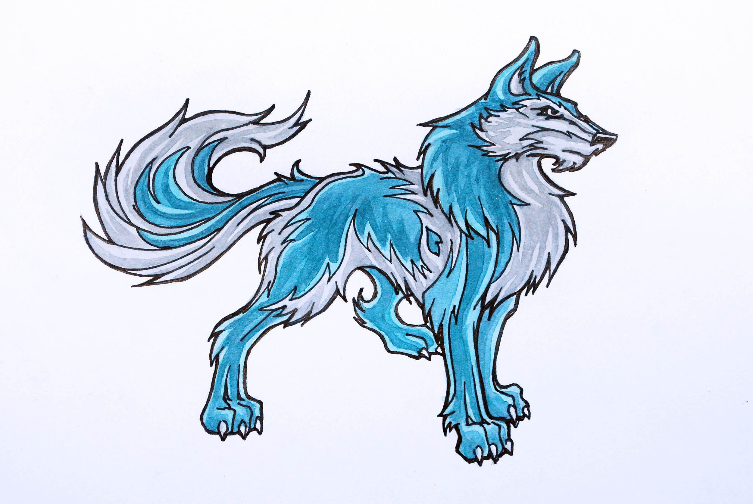 How To Draw Anime Wolves Anime Drawings Anime Wolf Wolf Drawing