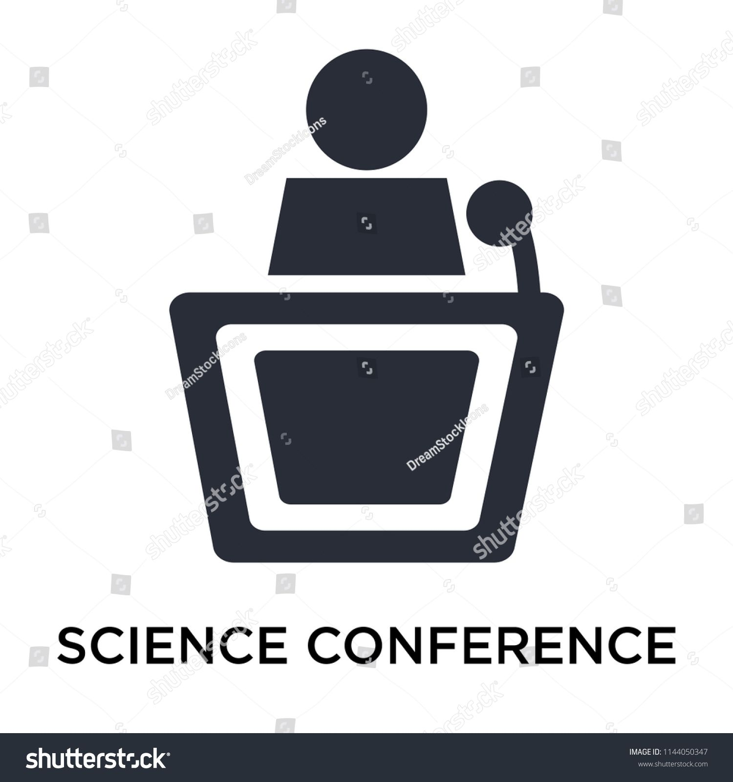 Science Conference icon vector isolated on white