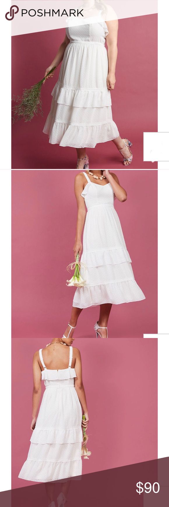 Modcloth ethereal elegance midi dress boho wedding nwt my posh