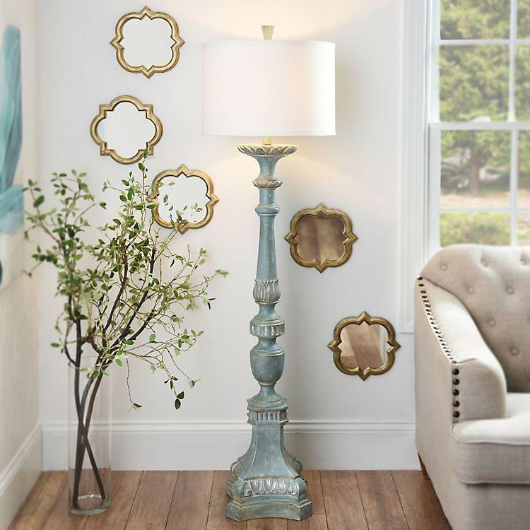 Kirklands Floor Lamps New Alana Distressed Blue Floor Lamp Pinterest Blue Floor Lamps