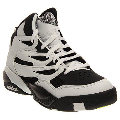 mens adidas mutombo 2 nero / bianco 9 basket atletico c75309