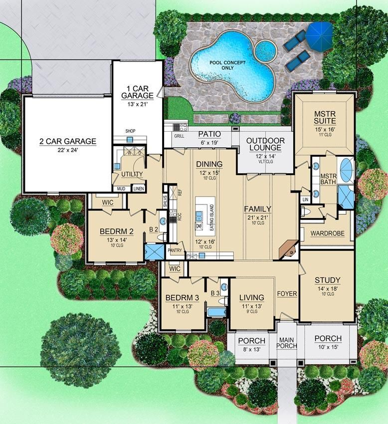 Perry Lane House Plan
