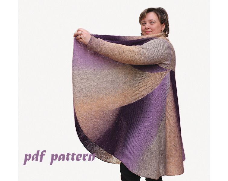 Pattern Convertible wool coat, 3 in 1 Pattern PDF  from Knitted convertible clothes by 2b-studio by DaWanda.com